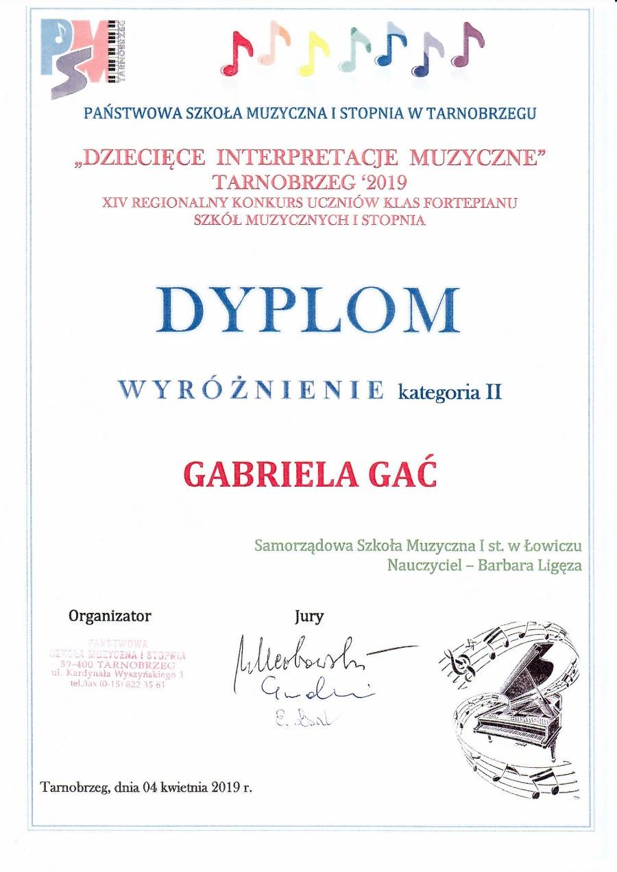 Gabrysia dyplom