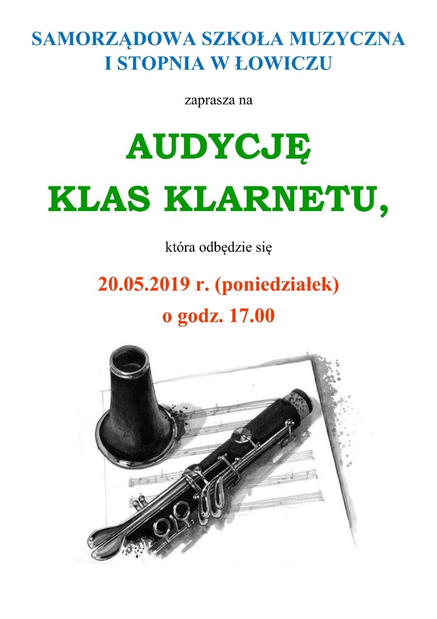 audycja klarnetu