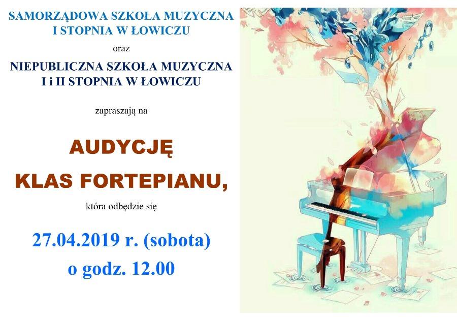audycja klas fortepianu 27042019
